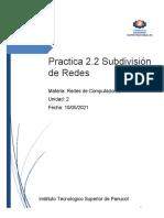 Practica  Subdivision de Redes