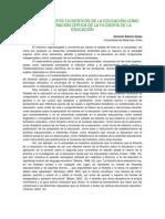 resumen LOS FUNDAMENTOS FILOSÓFICOS DE LA EDUCACIÓN COMO