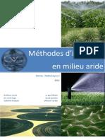 Rapport Methodes Dirrigations