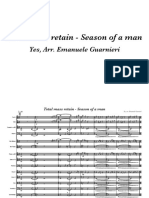 Total mass retain - Season of a man - Partitura trasposta e parti singole