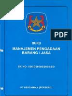 Buku Manajemen Pengadaan Barang dan Jasa SK-036-C00000-2004-SO