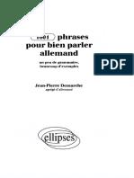 J-P. Demarche - 1001 Phrases Pour Bien Parler Allemand
