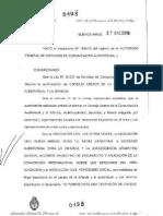 Resolución AFSCA 498