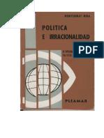 MIRA, Montserrat. Politica e irracionalidad. La tipologia de las mentalidades politicas en Karl Manheim