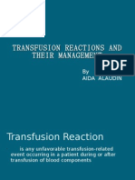 TRANSFUSION REACTIONS AND THEIR MANAGEMENT