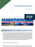 Marathon Howard Weil 2011 Energy Conference