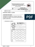 1º BIMESTRE - BLOCO 1 - 01-03-21 a 26-03-21 - 3º ano C