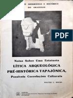 Rocha 1985,Notas sobre uma estatueta lítica