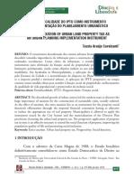 2012 - A Extra Fisc. Do IPTU Como Instrumento de Implementação Do Pplanejamento Urbanístico