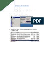 Setting Up Secured Profile on IBM T30 ThinkPad