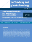 Data into Information into Knowledge