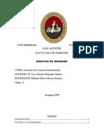 AGENCIA DE ADUANAS-DERECHO DEL COMERCIO INTERNACIONAL