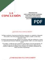 EXPOSICIÓN SOBRE CONCLUCIONES EN INVESTIGACION