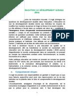CHAPITRE VI . ÉDUCATION AU DÉVELOPPEMENT DURABLE (EDD)