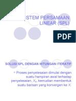 Metnum 3 - Sistem Persamaan Linear (Spl) Bag. 2