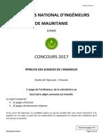 Concours 2017 SI (Doc Énoncé)