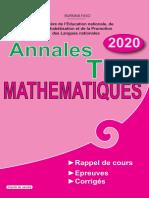 Annales Maths Tle d