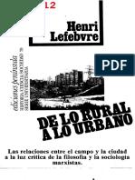 Lefebvre de Lo Rural a Lo Urbano