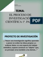 EL PROCESO DE INVESTIGACIÓN 1a. PARTE