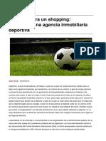 Scher (2019) Argentina, una agencia inmobiliaria deportiva
