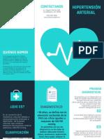 Turquesa Vector de Corazón Médico Folleto