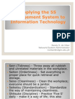 5S Management to Information Technology