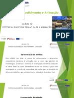 Mod 10 - POTENCIALIDADES DA REGIÃO PARA A ANIMAÇÃO