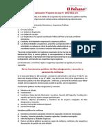 Ámbito de aplicación Proyecto de Ley N° 149/2021-CG