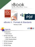 eBooks II_  Formats, Standards, and Implementation Presentation 1