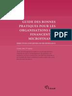 Guide Pratiques Pour Organisations Qui Financent La Microfinance Directives Concertees en Microfinance