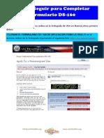 1- Pasos a Seguir Para Completar Aplicación de Visa Online Formulario Ds160