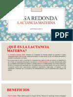 MESA REDONDA LACTANCIA MATERNA