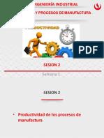 Sesión 2. Productividad de los procesos de manufactura
