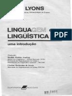 Linguagem e Linguística John Lyons