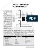PC-based 7 segment rolling display