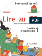 Lire Au Cp Cahier D'exercices 1 Nathan