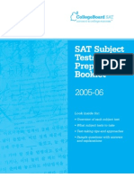 SAT Subject Tests Preparation Booklet  06-2005