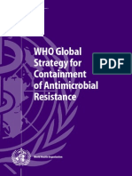Dody Firmanda 2001 - WHO Global Strategy for Containment of Antimicrobial Resistance