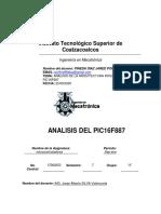 ANALISIS DE LA ARQUITECTURA INTERNA DEL PIC16F887