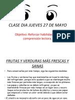 CLASE DIA JUEVES 27 DE MAYO