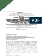 Pendapat Fraksi PPP tentang RUU Pencabutan Perpu No 4-09-Ttg Kpk 97, r.k Komisi III 12 Mei 10