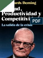Calidad, productividad y competitividad - Deming - 1ed sdf