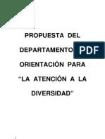 PROPUESTA  DEL DPTO DE ORIENTACION PARA LA ATENCIÓN A LA DIVERSIDAD