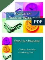 2 Basics of Resume Writing