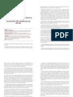 Introducción Para La Critica de 'La Filosofía Del Derecho' de Hegel