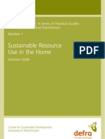 sustainable behavior at home