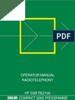 Sailor Hf Ssb Re2100 Operator Manual