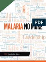 Malaria No More Stakeholder Report 2010