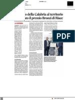 Omaggio della Calabria al territorio