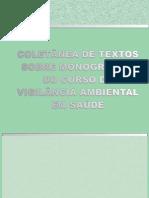 Coletânea de textos sobre monografias do curso de vigilância ambiental em saúde - UFRJ